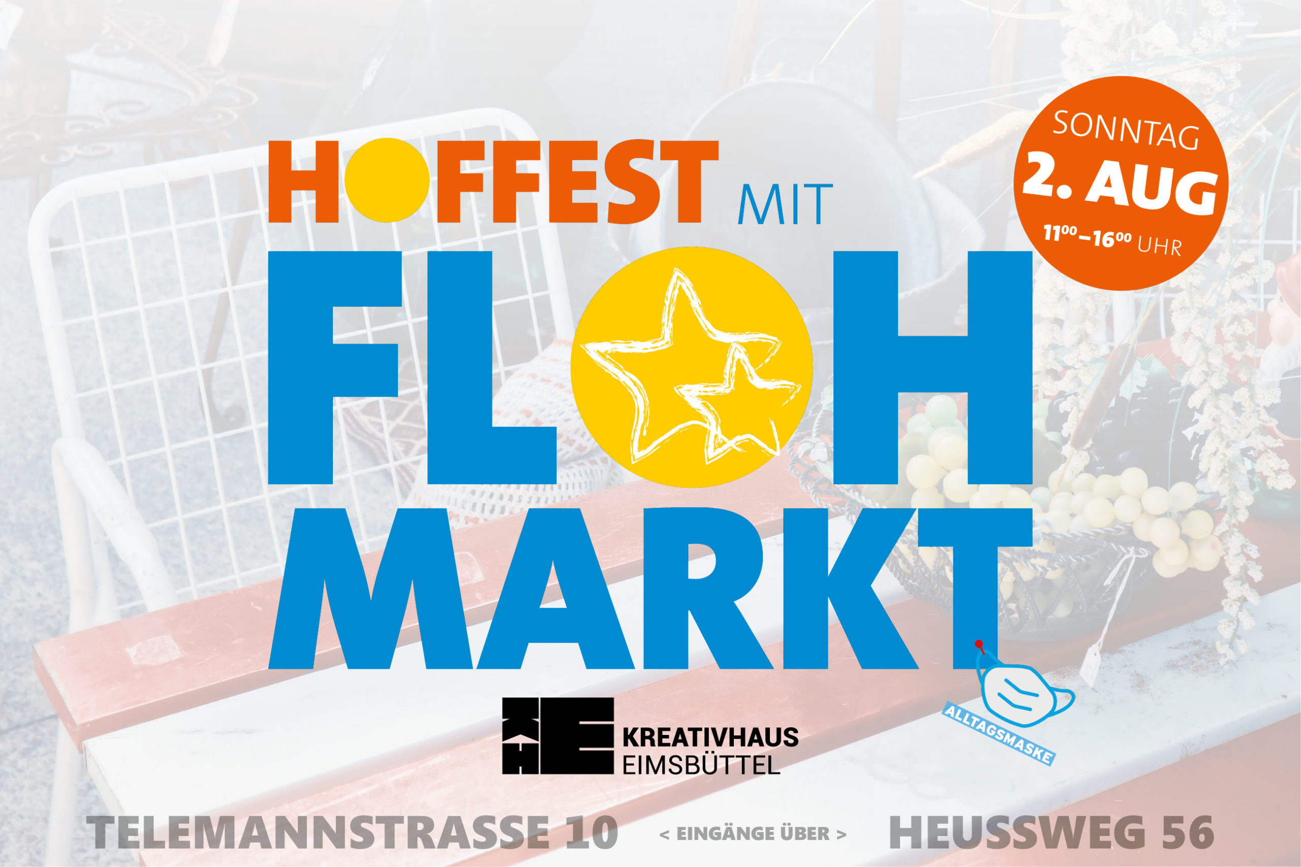 Flohmarkt in Eimsbüttel 2. August 2020